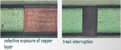 Bright Solutions_PCB_Selective Removal - Track interruption