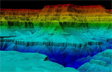 Lidar Laser Grand Canyon