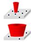 Laser Spot Size comparison for heterogeneous samples
