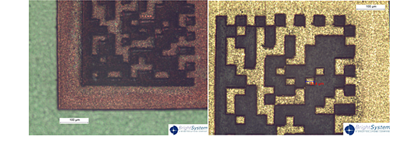 Laser Micromachined 2D Bar code example