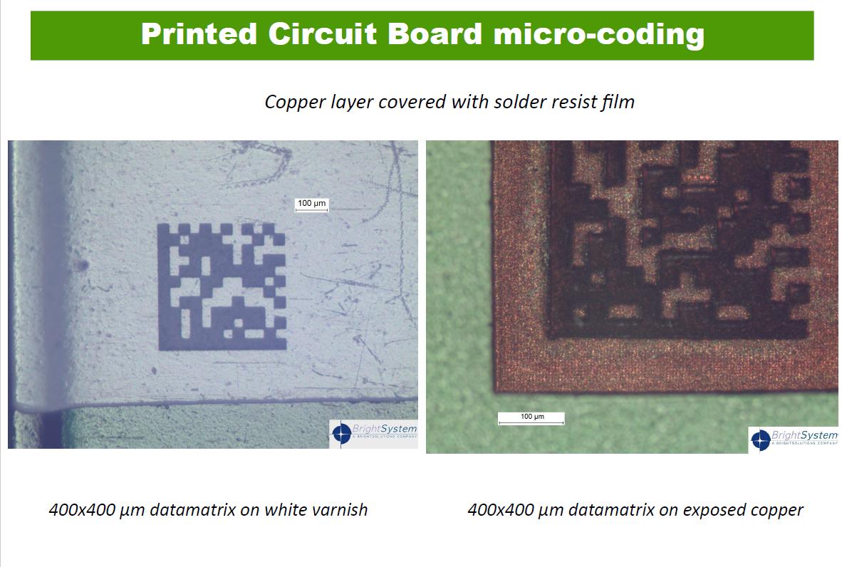 Printed Circuit Board micro-coding.