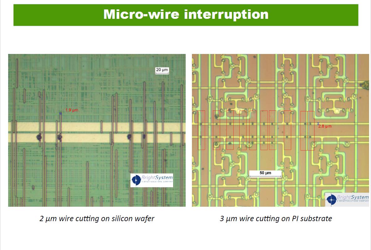Micro-wire interruption.